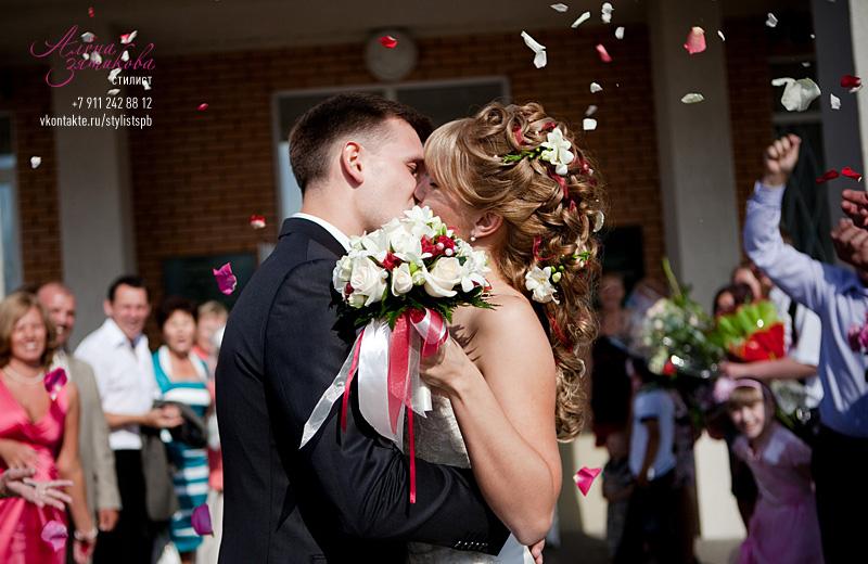 свадебные прически с шеньона
